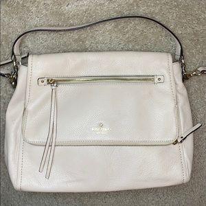 Kate Spade Flap Crossbody Messenger Bag Beige Tan